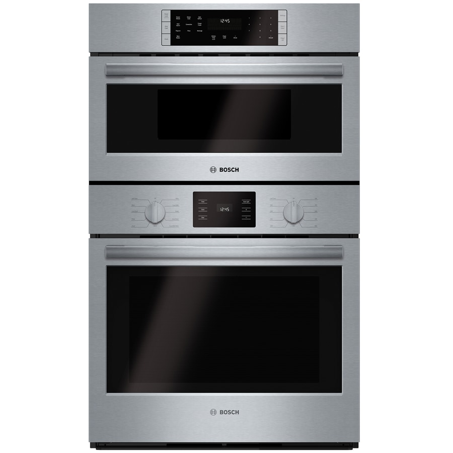 Bosch Self-Cleaning Convection Microwave Wall Oven Combo (Steel-Stainless) (Common: 30-in; Actual: 29.75-in)