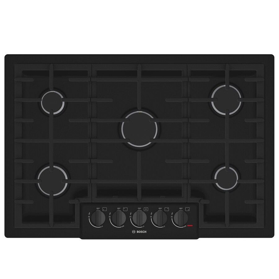 shop bosch 800 series 5 burner gas cooktop black common 30 in actual 31 in at. Black Bedroom Furniture Sets. Home Design Ideas