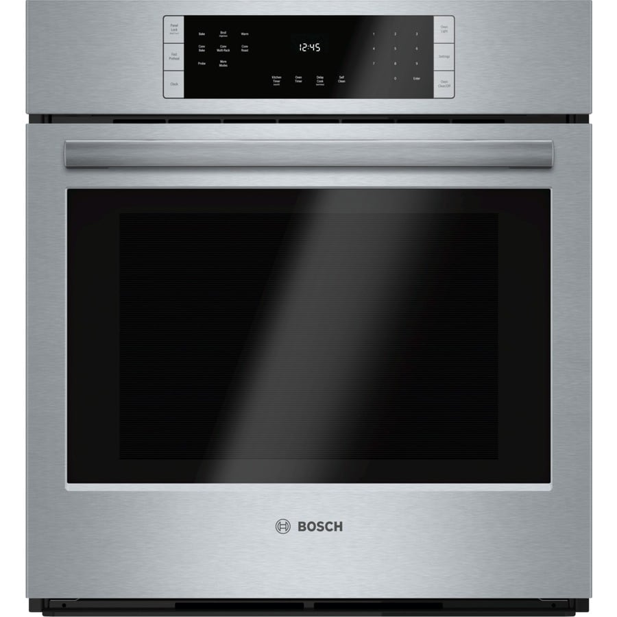 Bosch 800 Series Self-Cleaning Convection Single Electric Wall Oven (Steel-Stainless) (Common: 27-in; Actual 26.75-in)