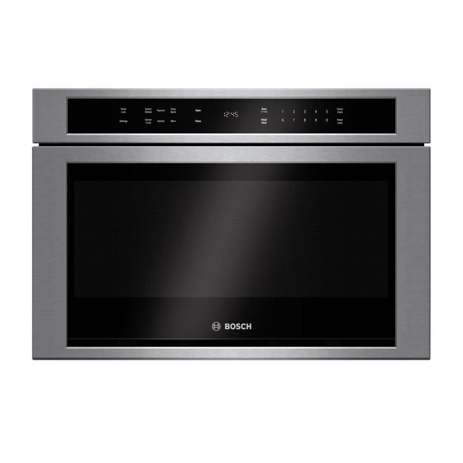 Shop bosch 1 2 cu ft microwave drawer stainless steel for 24 inch built in microwave oven