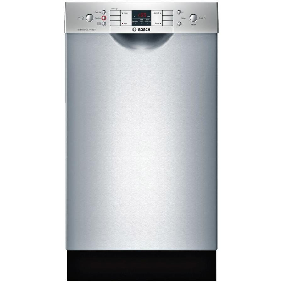 Bosch 300 Series 46-Decibel Built-In Dishwasher (Stainless Steel) (Common: 18-in; Actual: 17.625-in) ENERGY STAR