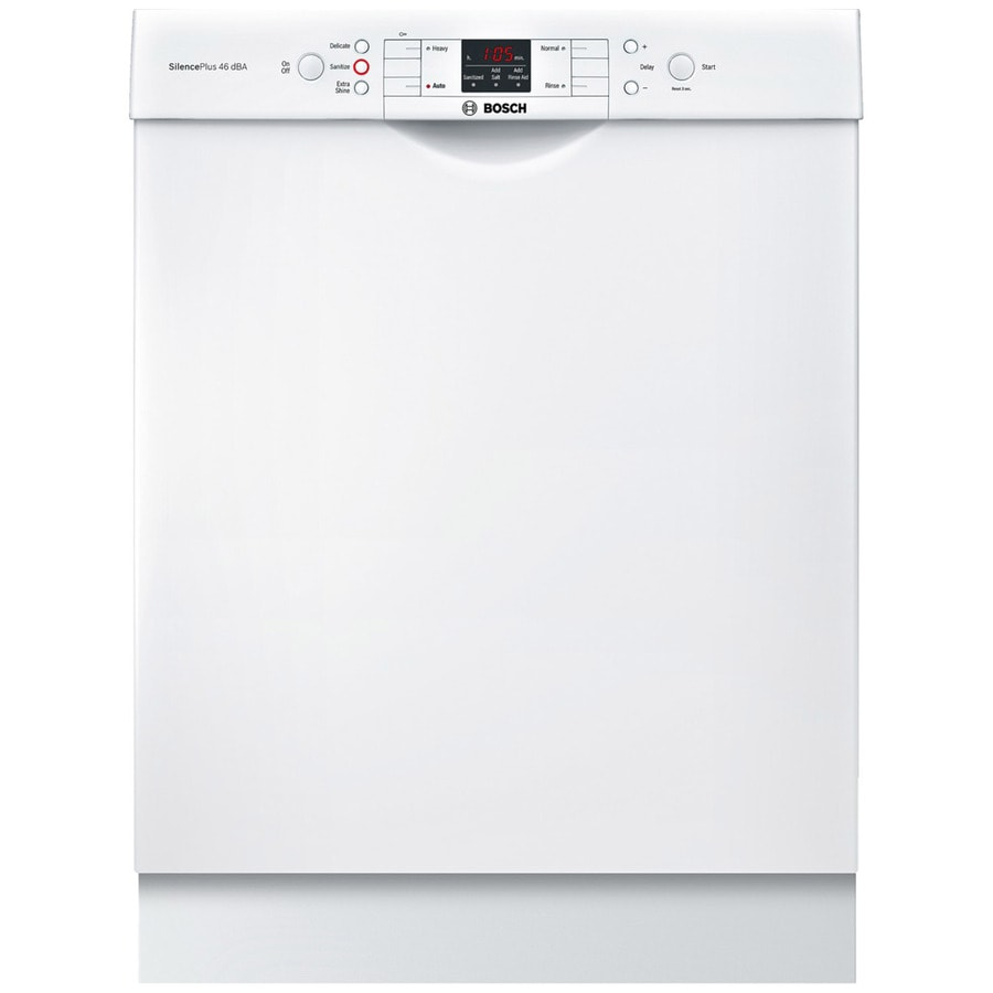 Bosch 300 Series 46-Decibel Built-In Dishwasher (White) (Common: 24-in; Actual: 23.5625-in) ENERGY STAR
