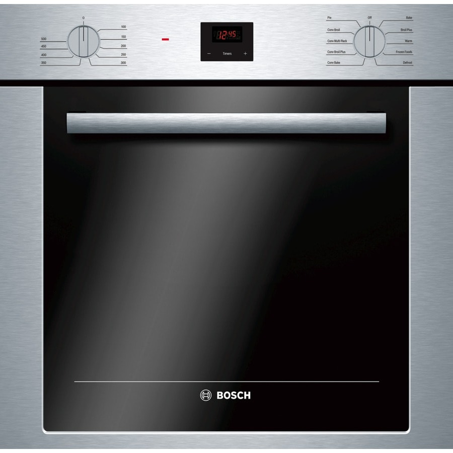 Bosch 500 Series Convection Single Electric Wall Oven (Stainless-Steel) (Common: 24-in; Actual 23.50-in)