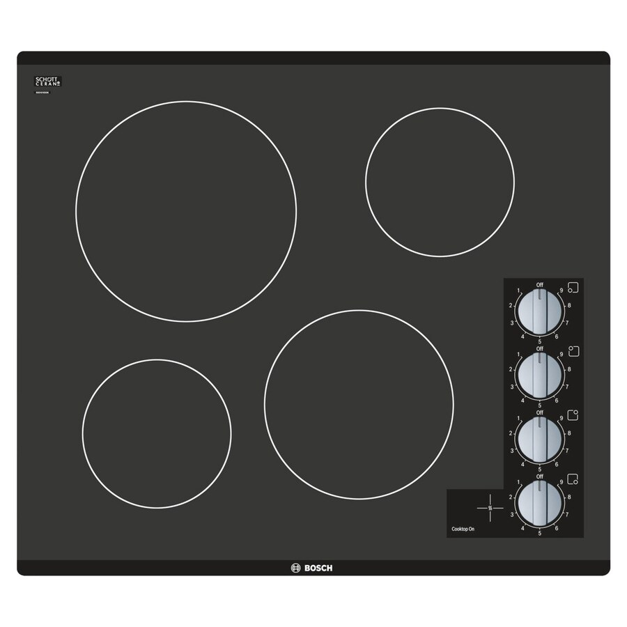Bosch 500 Series Smooth Surface Electric Cooktop (Stainless Steel) (Common: 24-in; Actual 23-in)