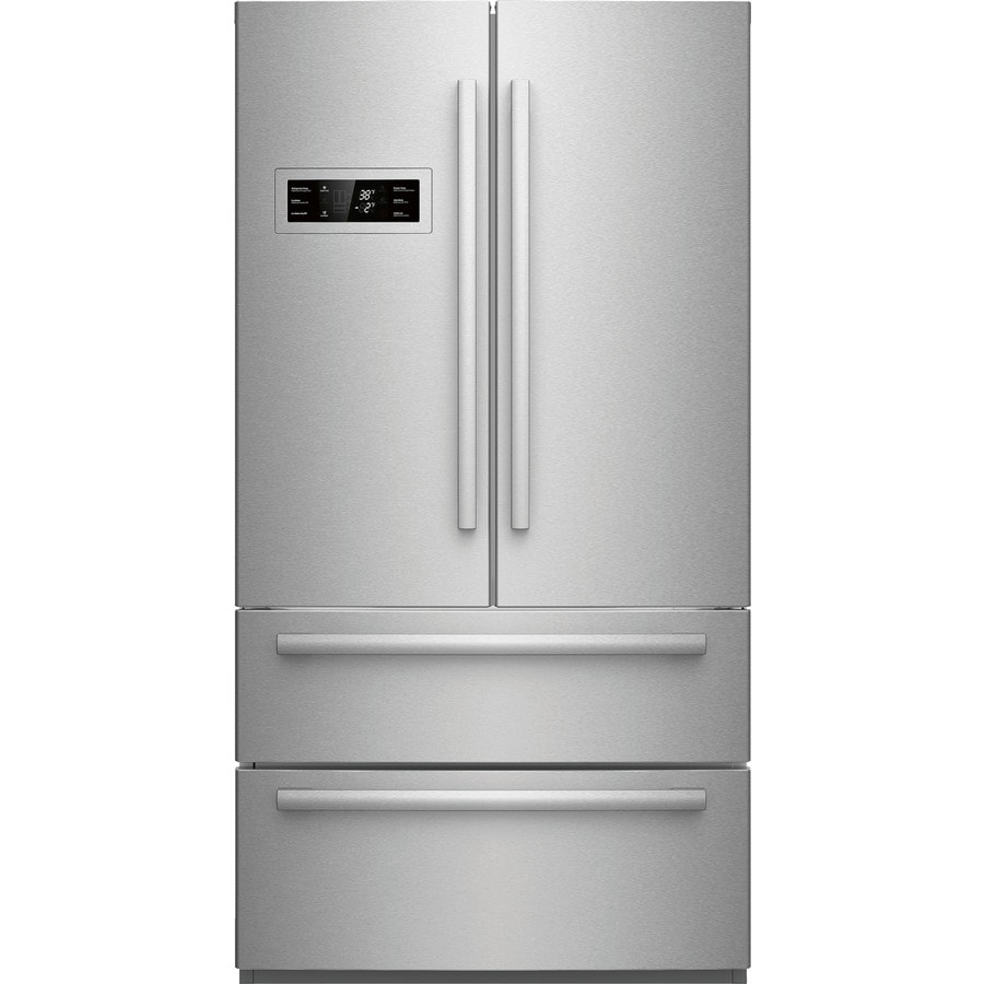 Bosch 800 Series 20.7-cu ft Counter-Depth French Door Refrigerator with Single Ice Maker (Stainless Steel)