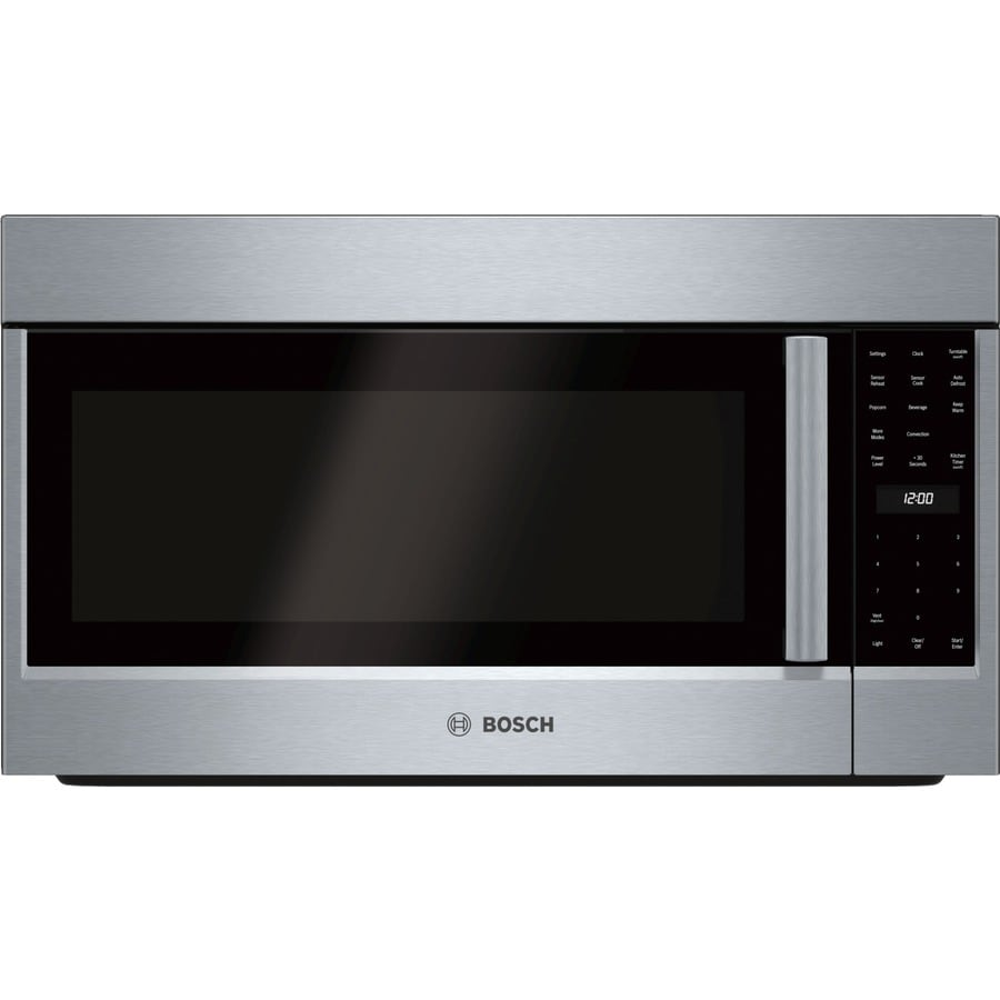 Bosch 800 Series 1.8-cu ft Over-The-Range Convection Microwave with Sensor Cooking Controls (Stainless Steel) (Common: 30-in; Actual: 29.875-in)