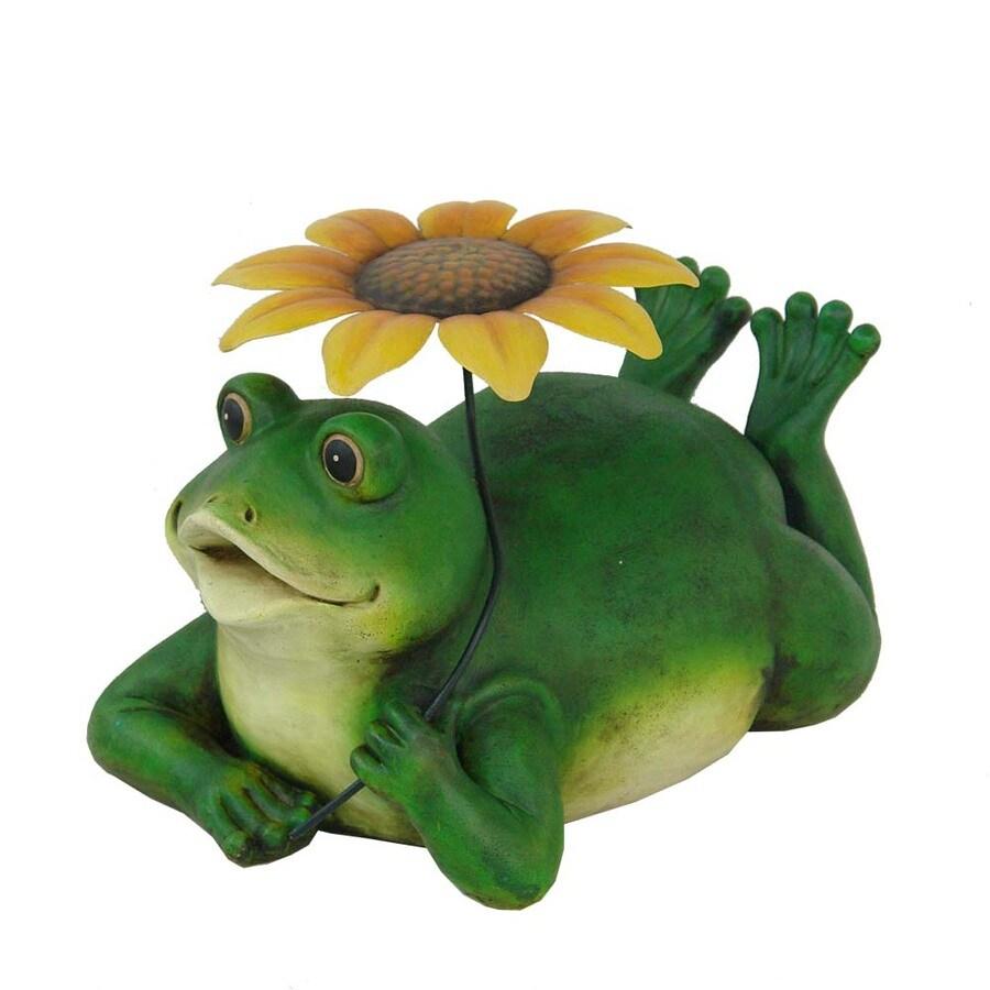 10-in H Frog Design Garden Statue