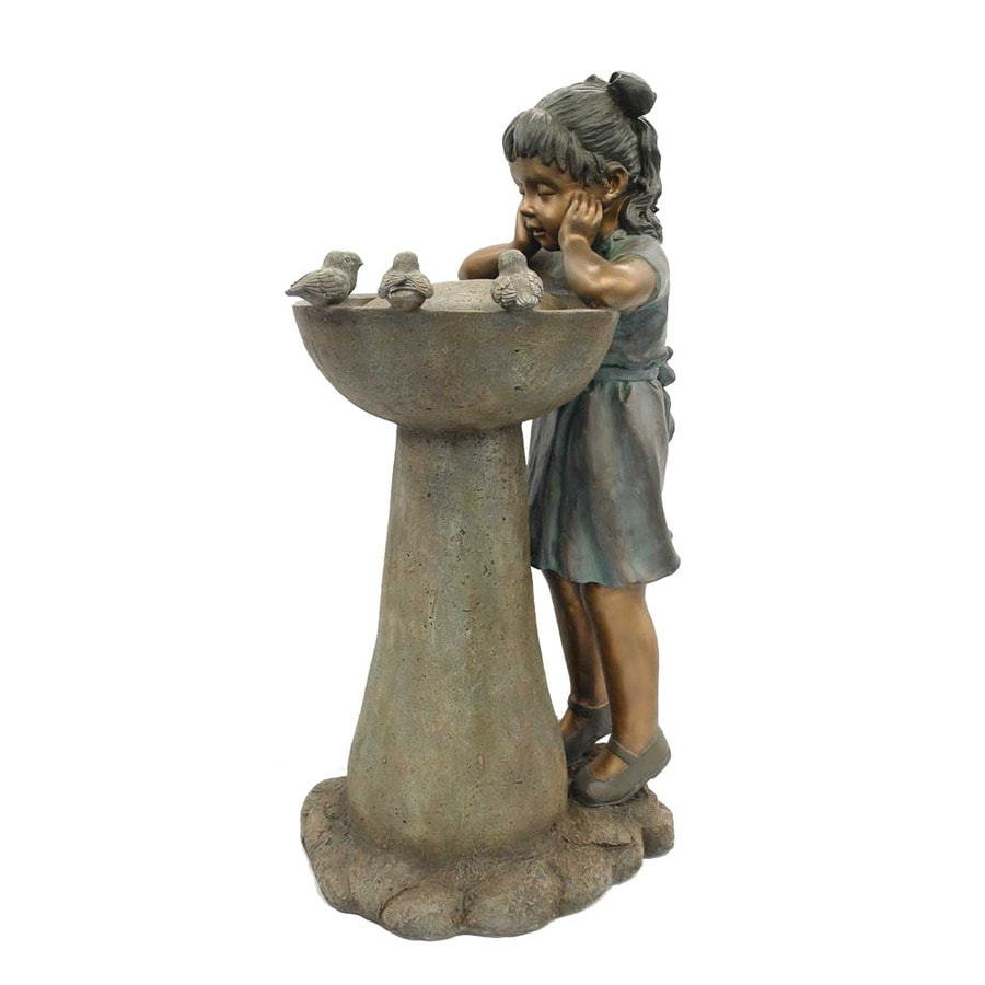 Garden Treasures Girl with Birds Indoor/Outdoor Fountain with Pump