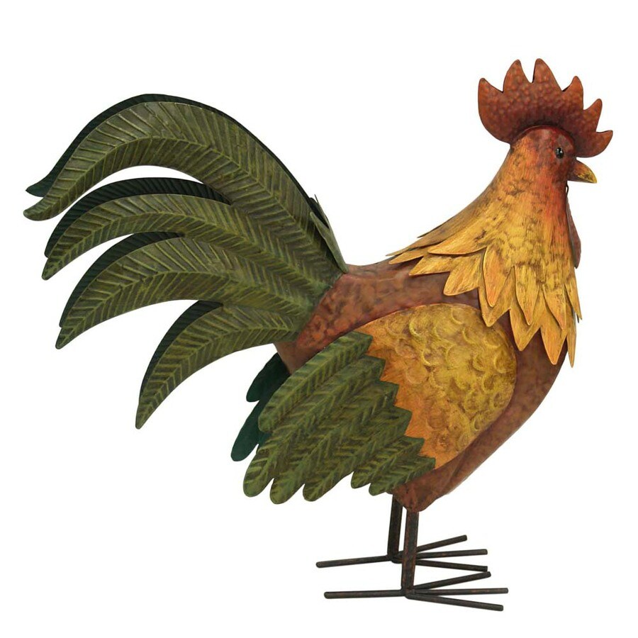 17.5-in H Rooster Design Garden Statue