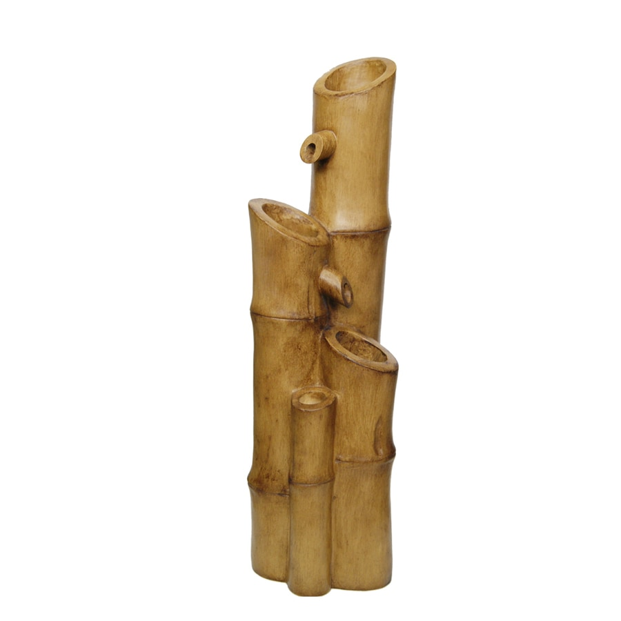 Shop garden treasures outdoor fountain at for Making bamboo things