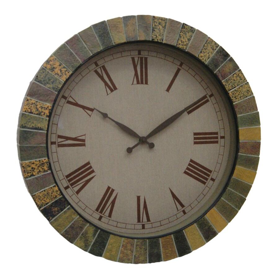 Garden Treasures 20.25-in Faux Slate Garden Clock