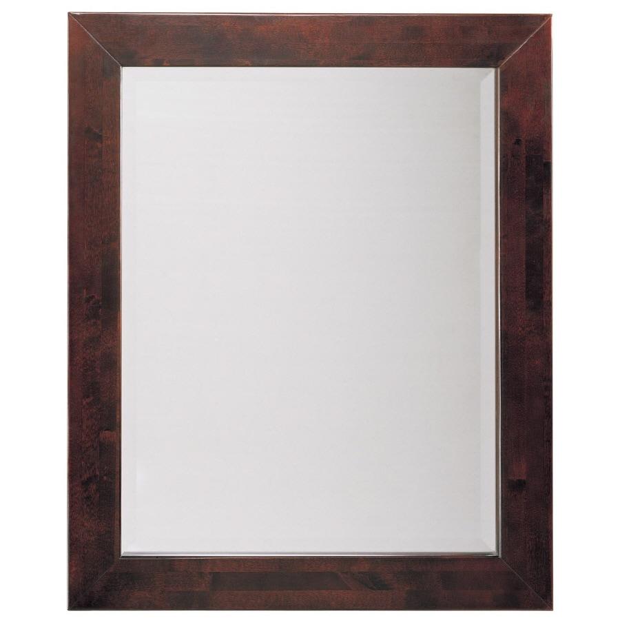 allen + roth Espresso Rectangular Bathroom Mirror