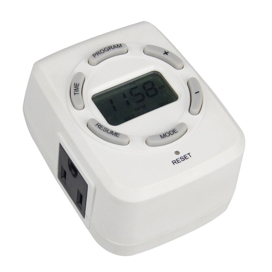 Utilitech 15-Amp 2-Outlet Digital Residential Plug-In Lighting Timer