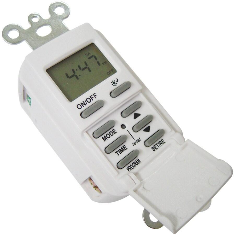 Utilitech 15-Amp Digital Residential Hardwired Countdown Lighting Timer