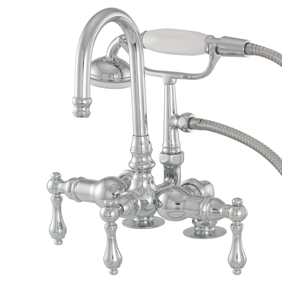 Shop American Bath Factory F200 Series Chrome 3 Handle Bathtub And Shower Faucet Trim Kit With