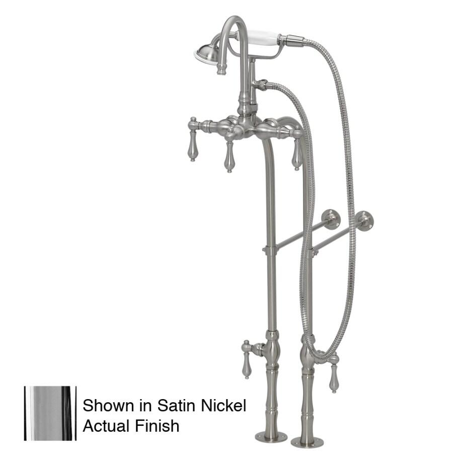 American Bath Factory F200 Series Chrome 3-Handle Bathtub and Shower Faucet Trim Kit with Handheld Showerhead