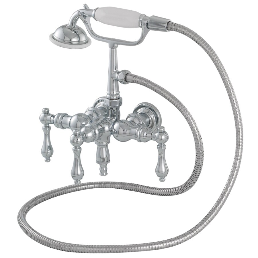 American Bath Factory F400 Series Chrome 3-Handle Bathtub and Shower Faucet Trim Kit with Handheld Showerhead