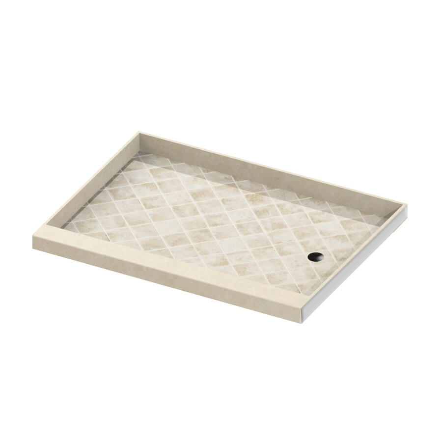 American Bath Factory Flagstaff Molded Stone Shower Base (Common: 32-in W x 60-in L; Actual: 32-in W x 60-in L)