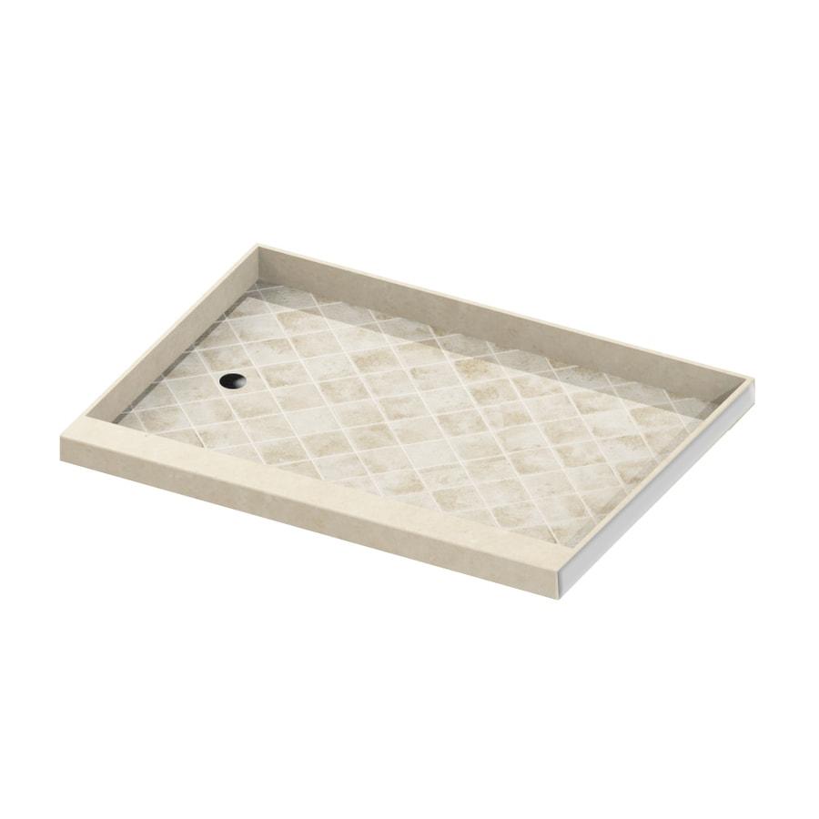 American Bath Factory Flagstaff Molded Stone Shower Base (Common: 30-in W x 60-in L; Actual: 30-in W x 60-in L)