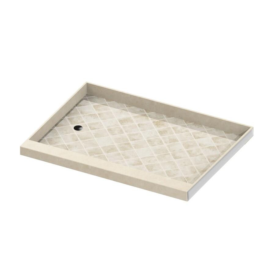 American Bath Factory Flagstaff Molded Stone Shower Base (Common: 32-in W x 60-in L; Actual: 32-in W x 60-in L)