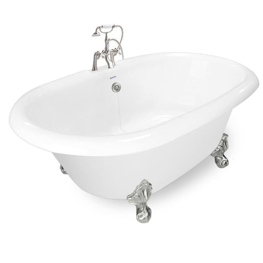 Round Bath Tubs : American Bath Factory Acrylic Round Clawfoot Bathtub with Reversible ...
