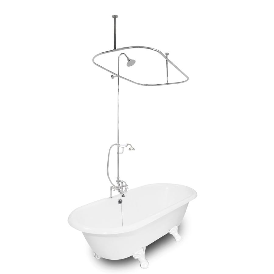 American Bath Factory Winston Cast Iron Oval Bathtub with Reversible Drain (Common: 31-in x 67-in; Actual: 24-in x 31.5-in x 67-in)