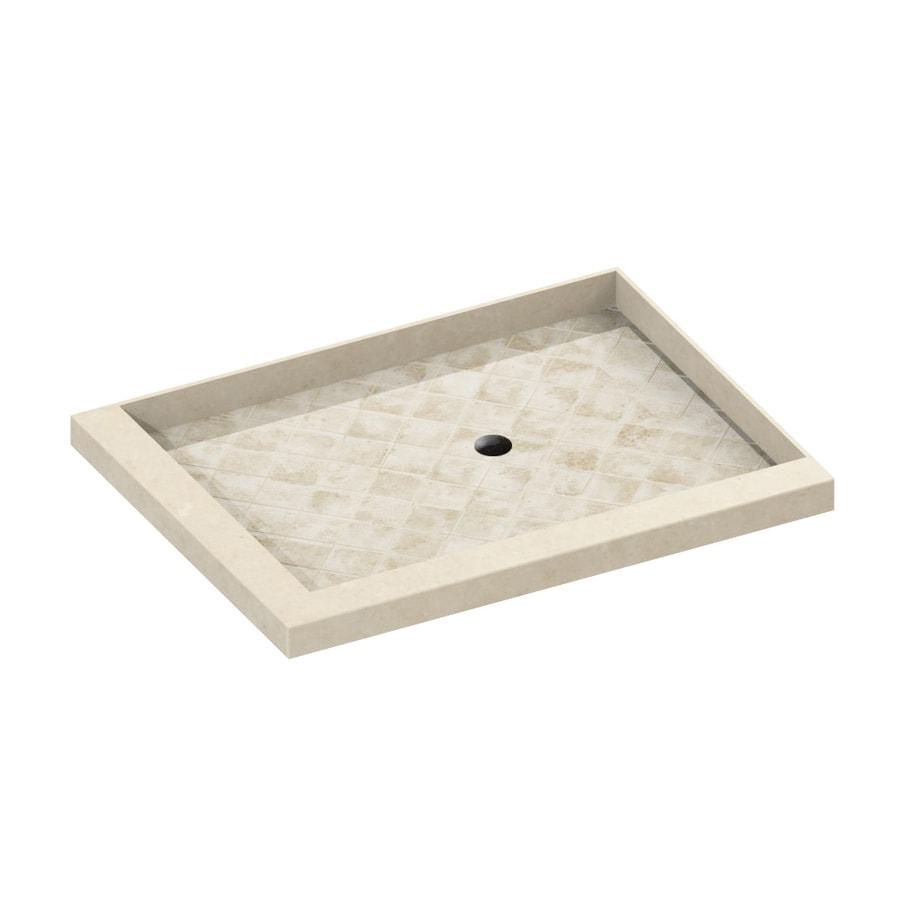 American Bath Factory 36-in L x 32-in W Sonoma Molded Stone Square Corner Shower Base