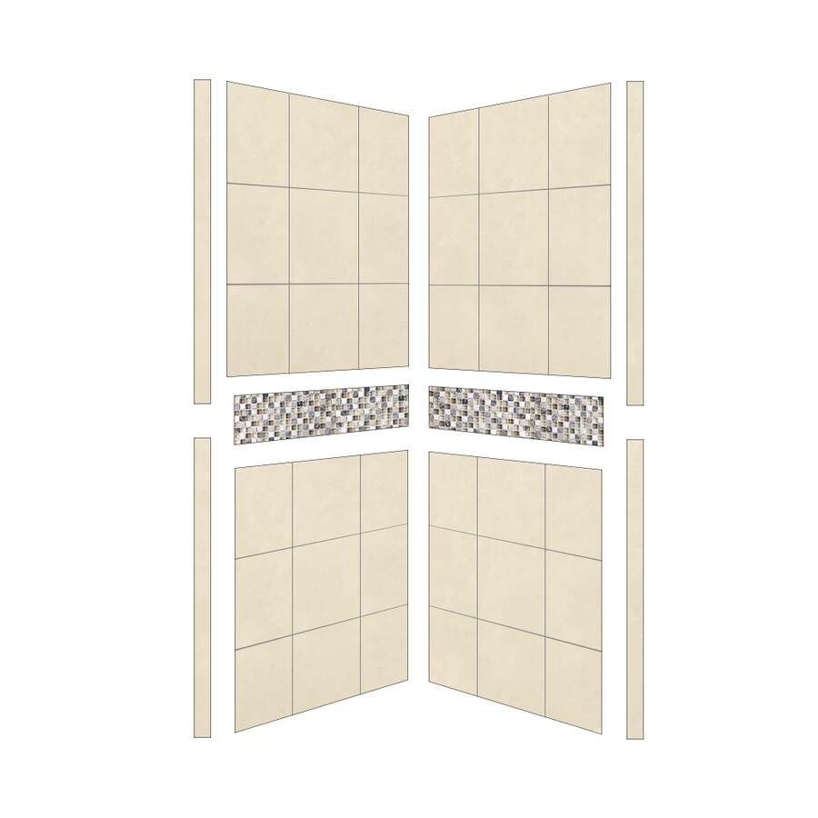 American Bath Factory Shower Wall Surround Side Panel (Common: 36-in; Actual: 80-in x 36-in)