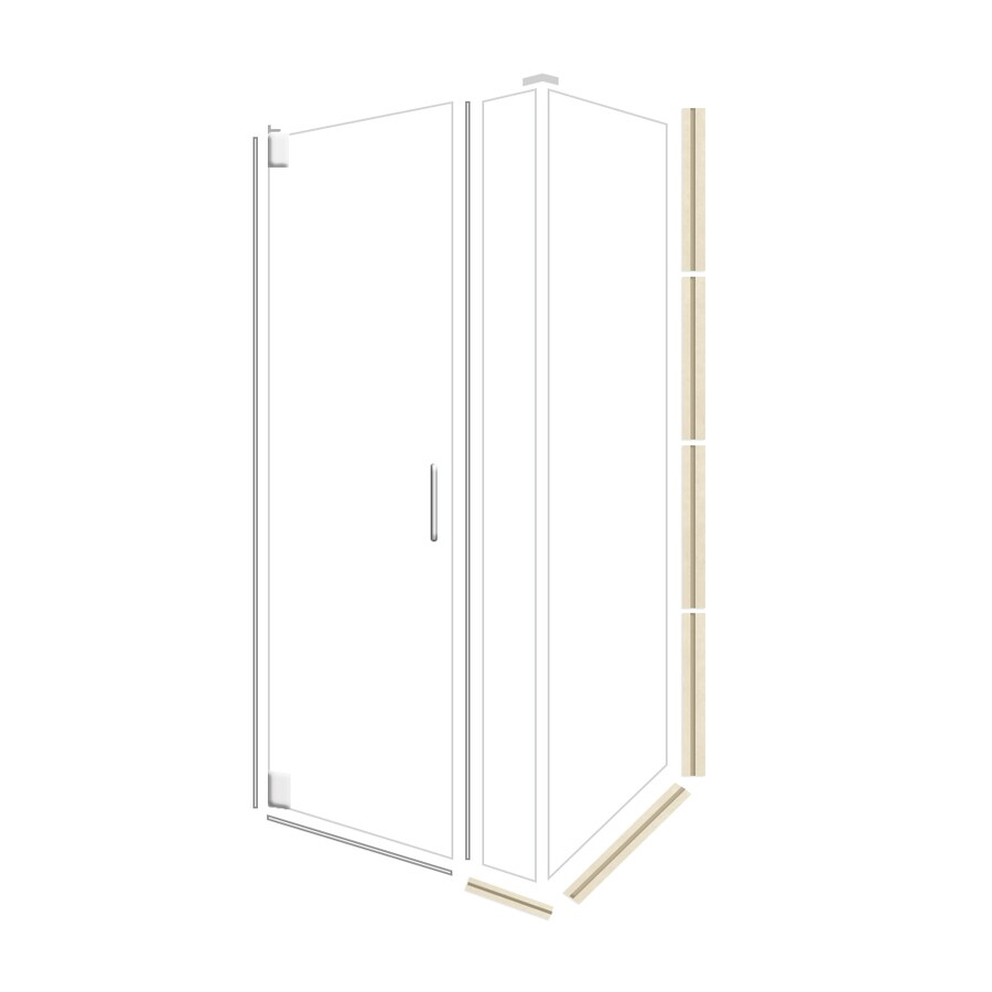 American Bath Factory 70-in H x 46.75-in W Mesa Shower Glass Panel