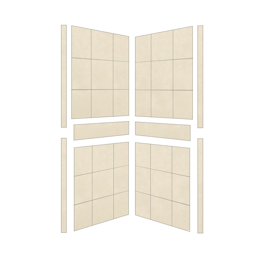 American Bath Factory Sonoma Shower Wall Surround Side Panel (Common: 36-in; Actual: 80-in x 36-in)