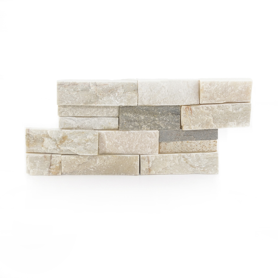 Shop Desert Quartz Ledgestone Natural Stone Quartz Wall