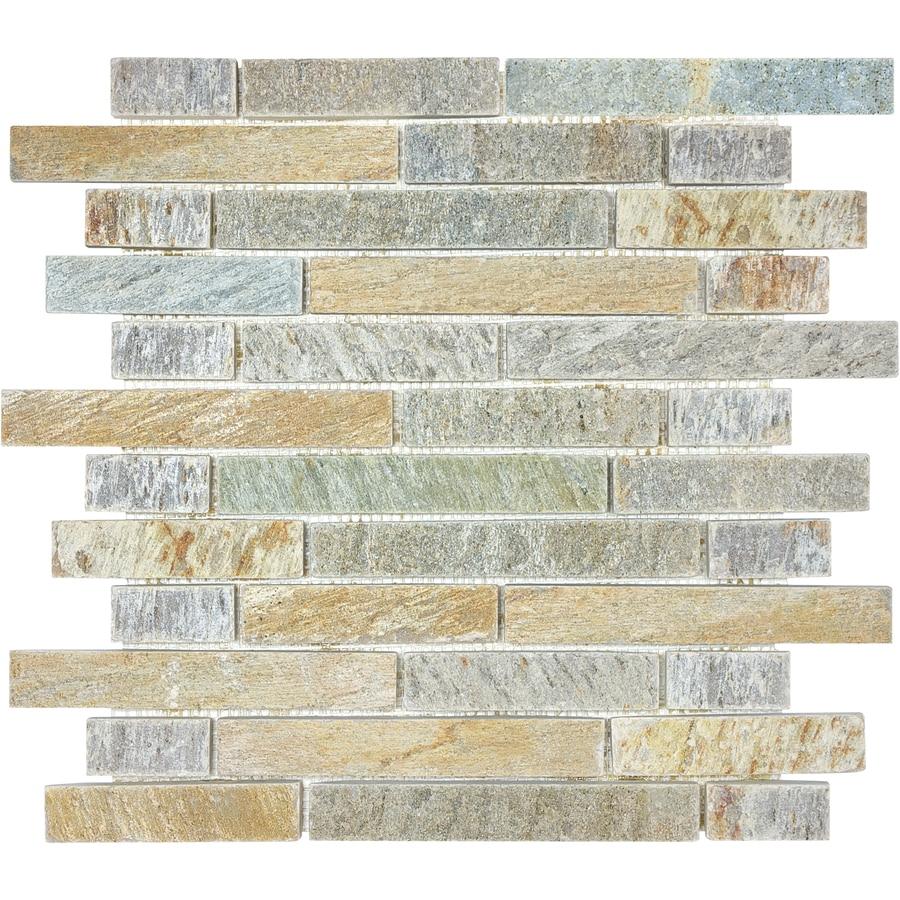 Desert Quartz Linear Mosaic Quartz Wall Tile (Common: 12-in x 12-in; Actual: 12-in x 12-in)