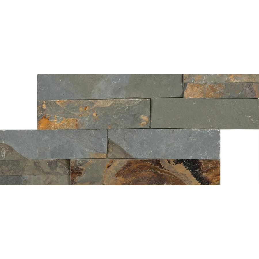 Anatolia Tile Oxide Ledgestone Slate Wall Tile (Common: 6-in x 12-in; Actual: 5.9-in x 11.81-in)