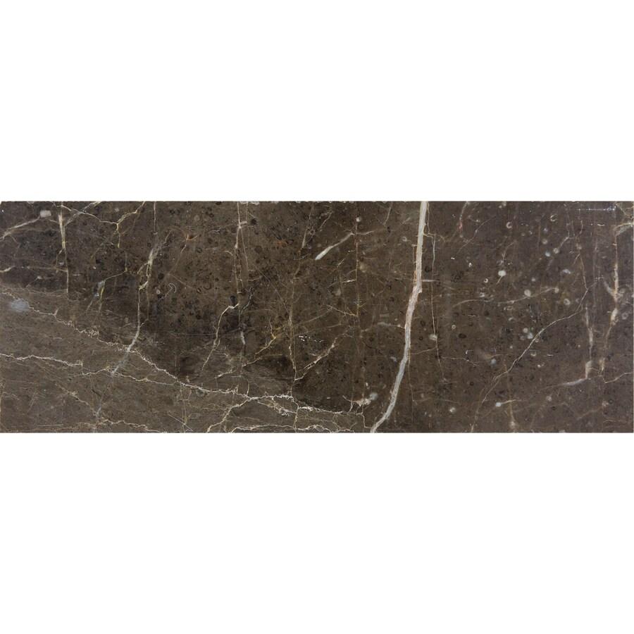 allen + roth Emperador Espresso Marble Wall Tile (Common: 3-in x 8-in; Actual: 2.87-in x 7.75-in)