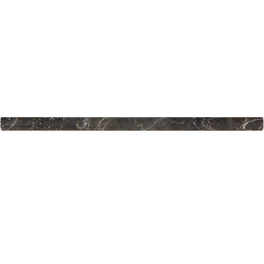 allen + roth Emperador Espresso Marble Pencil Liner Tile (Common: 5/8-in x 12-in; Actual: 0.62-in x 12-in)