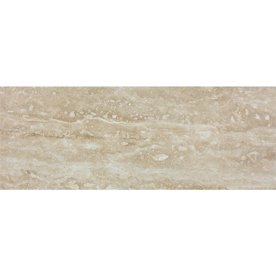 Anatolia Tile Walnut Travertine Travertine Wall Tile (Common: 3-in x 8-in; Actual: 2.95-in x 7.87-in)