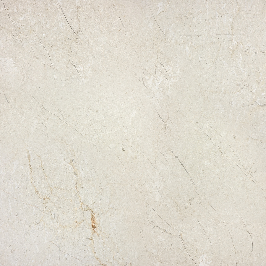 allen + roth Classic Cream Natural Stone Marble Thinset Mortar Floor and Wall Tile (Common: 18-in x 18-in; Actual: 18-in x 18-in)