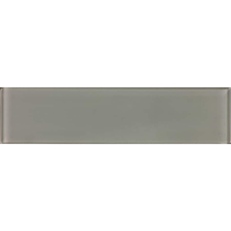 allen + roth Smoke Glass Wall Tile (Common: 3-in x 12-in; Actual: 2.87-in x 11.73-in)