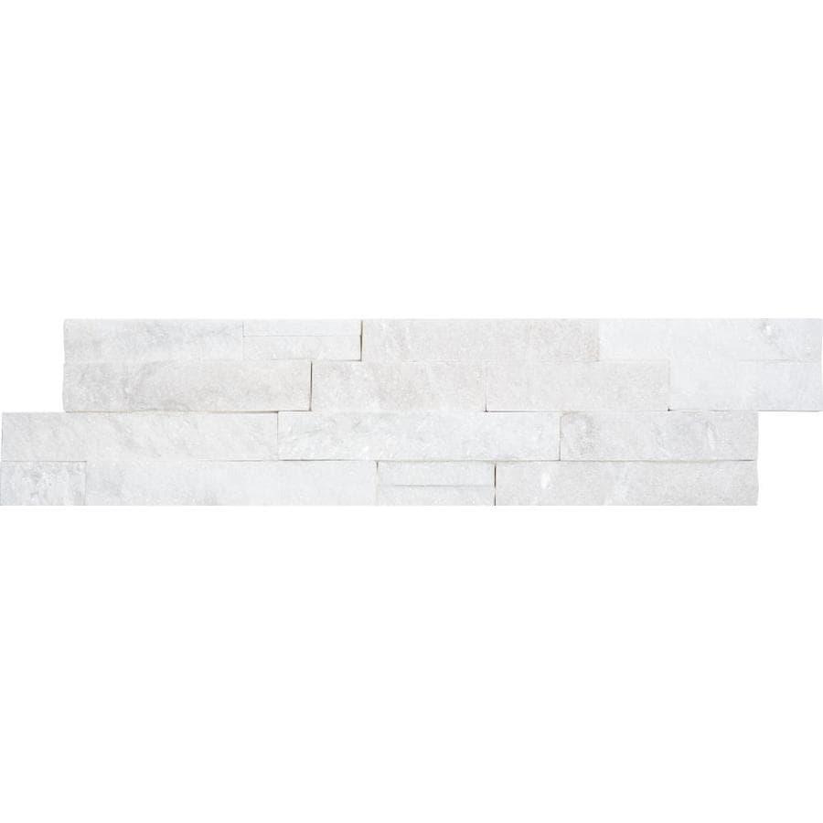 Anatolia Tile Arctic Ledgestone Quartz Wall Tile (Common: 6-in x 24-in; Actual: 5.9-in x 23.62-in)