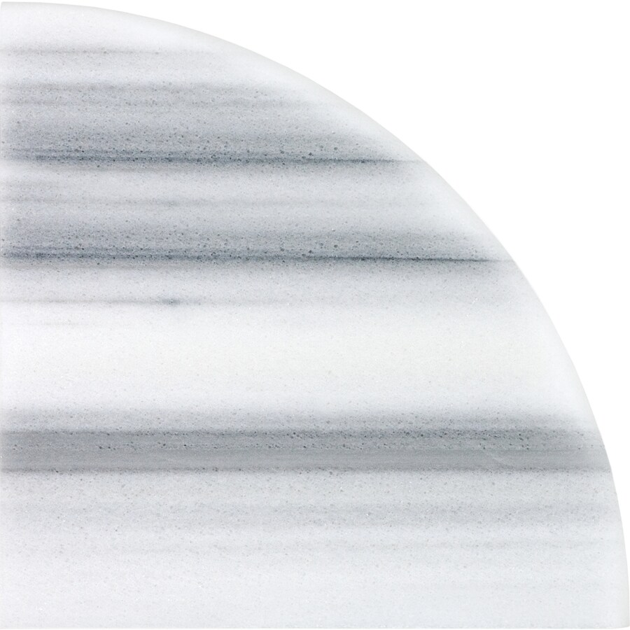 Anatolia Tile Annex Grigio Marble Corner Shelf Tile (Common: 9-in x 9-in; Actual: 8.86-in x 8.86-in)
