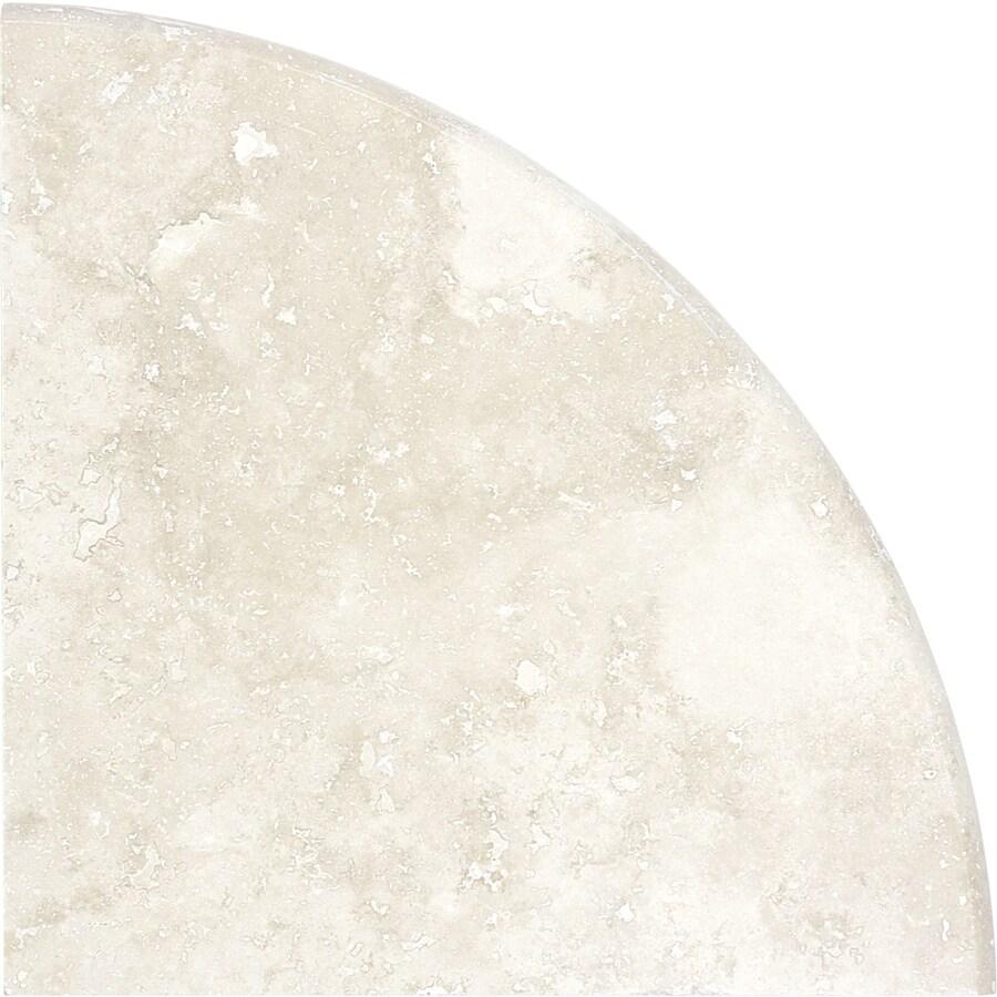 Anatolia Tile Ivory Premium Travertine Corner Shelf Tile (Common: 9-in x 9-in; Actual: 8.86-in x 8.86-in)