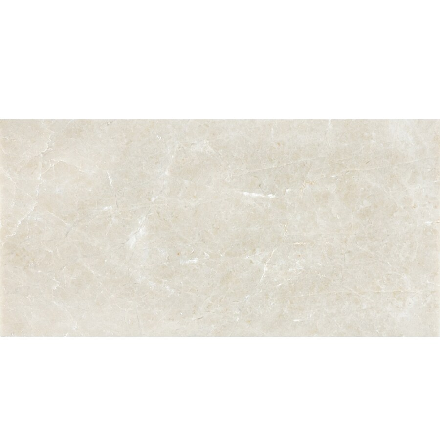 Anatolia Tile 44-Pack Polished Crema Luna Marble Floor and Wall Tile (Common: 3-in x 6-in; Actual: 2.95-in x 5.9-in)