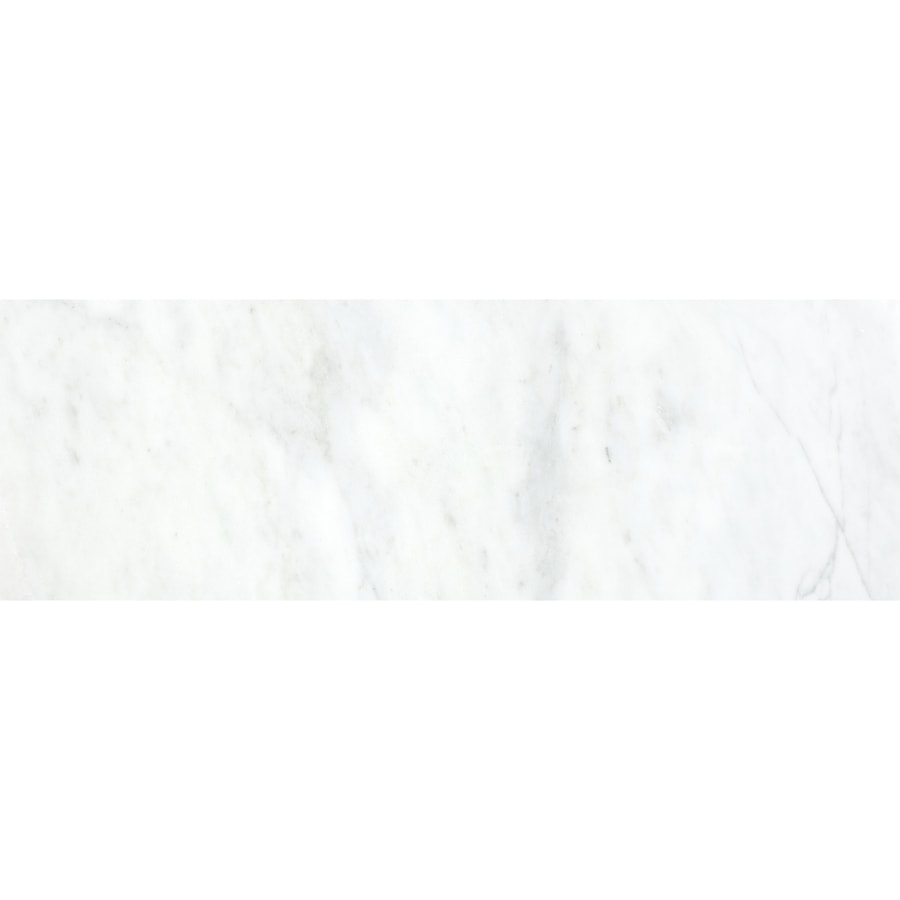 12-Pack Polished White Venatino Marble Floor and Wall Tile (Common: 6-in x 18-in; Actual: 5.96-in x 17.99-in) Product Photo