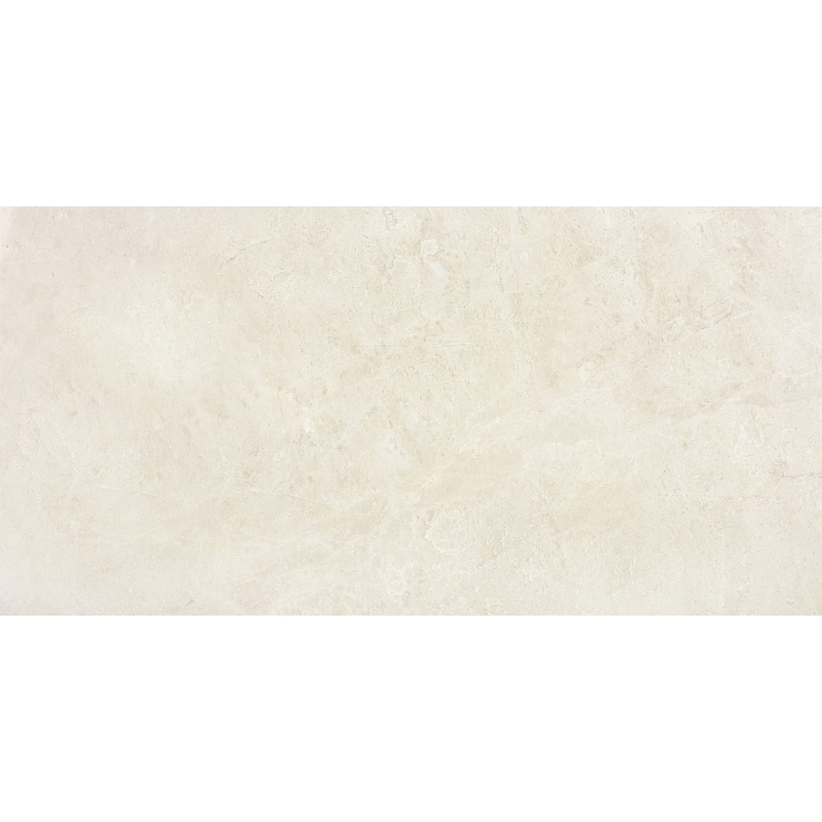 Anatolia Tile 4-Pack Polished Crema Luna Marble Floor and Wall Tile (Common: 12-in x 24-in; Actual: 12-in x 24-in)