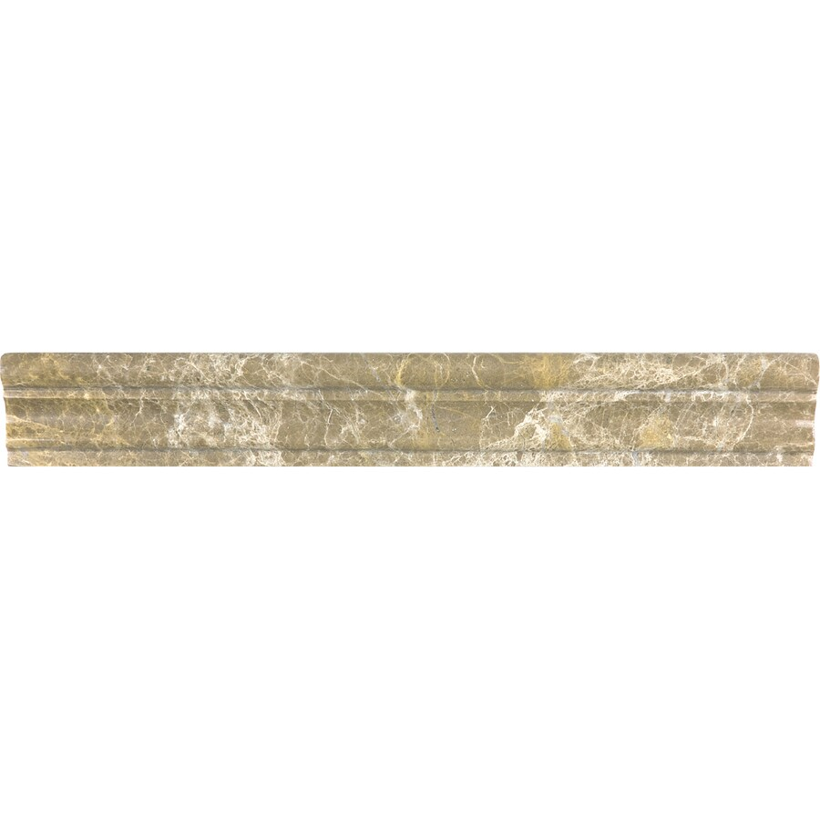 Anatolia Tile Emperador Light Marble Chair Rail Tile (Common: 2-in x 12-in; Actual: 1.77-in x 12-in)