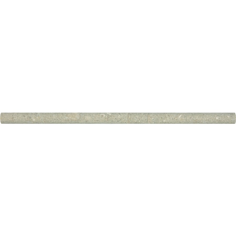 Anatolia Tile Seagrass Limestone Pencil Liner Tile (Common: 5/8-in x 12-in; Actual: 0.59-in x 12-in)