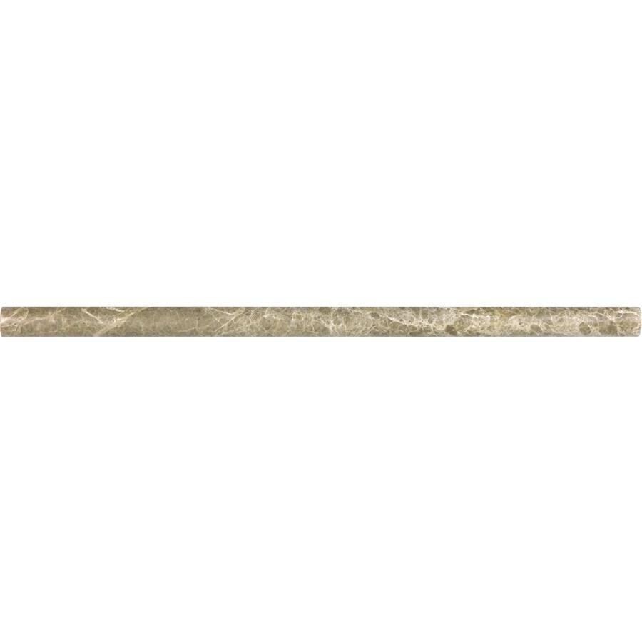Anatolia Tile Emperador Light Marble Pencil Liner Tile (Common: 5/8-in x 12-in; Actual: 0.59-in x 12-in)