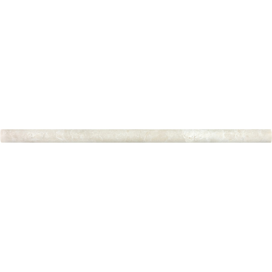Anatolia Tile Crema Luna Marble Pencil Liner Tile (Common: 5/8-in x 12-in; Actual: 0.59-in x 12-in)