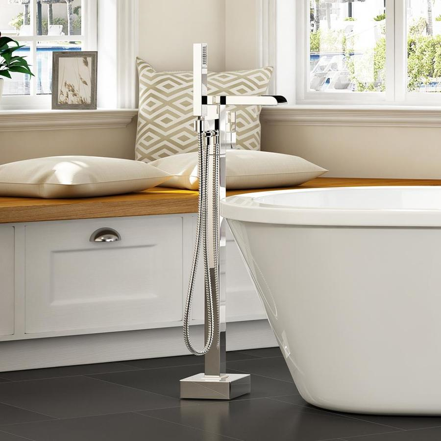 Infinity Chrome 1-Handle Adjustable Freestanding Bathtub Faucet Product Photo