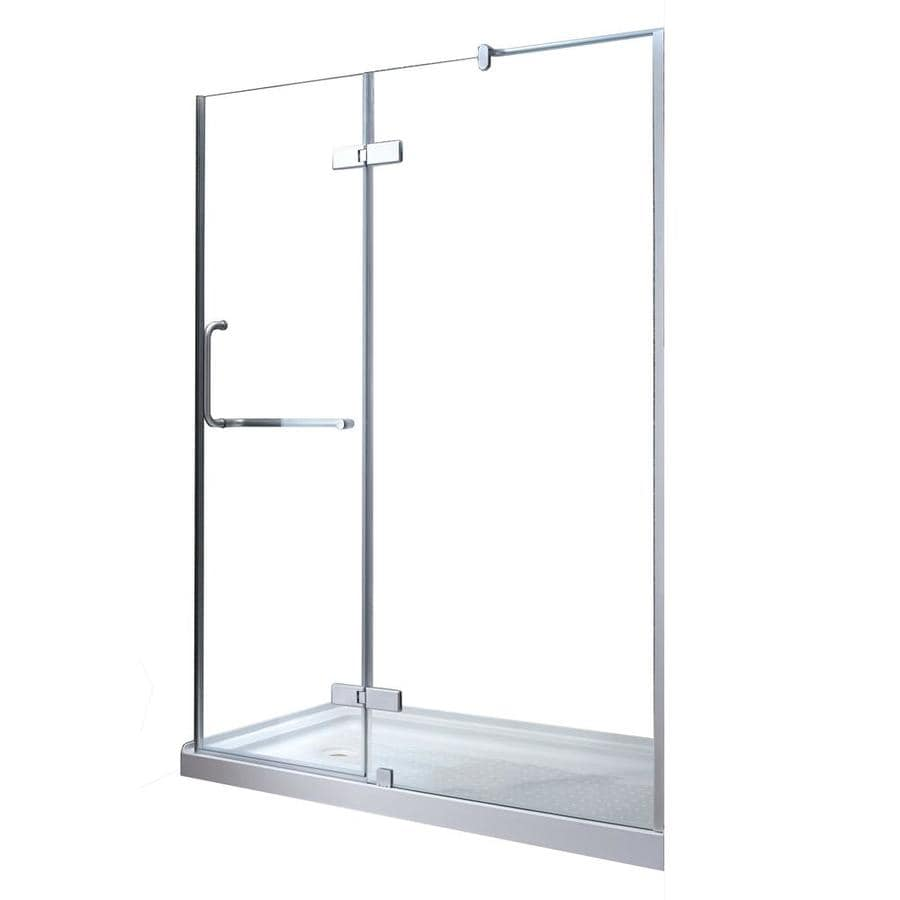 OVE Decors Shelby 58.25-in to 58.75-in Frameless Hinged Shower Door